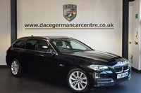 USED 2014 64 BMW 5 SERIES 3.0 530D SE TOURING 5DR AUTO 255 BHP + FULL BLACK LEATHER INTERIOR + BMW SERVICE HISTORY + PRO SATELLITE NAVIGATION + BLUETOOTH + HEATED SPORT SEATS + PARKING SENSORS + 17 INCH ALLOY WHEELS +