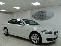 USED 2014 63 BMW 5 SERIES 2.0 520D SE 4d AUTO 181 BHP FULL BMW HISTORY, 1 OWNER, £30 TAX, SAT NAV, LEATHER