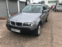 USED 2006 06 BMW X3 2.0 D SE 5d 148 BHP 7 SERVICES-DIESEL-12 MONTHS MOT ON PURCHASE