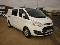 2015 FORD TRANSIT CUSTOM  290 LIMITED L2H1 2.2TDCI Double Cab In Van 125PS in Frozen White With Air con Bluetooth Cruise Control and much more  £12995.00