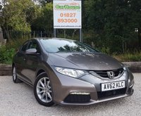 USED 2012 62 HONDA CIVIC 2.2 I-DTEC SE 5dr Air Con, £20 Road Tax