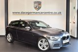 USED 2014 64 BMW 1 SERIES 2.0 118D M SPORT 3DR 141 BHP + FULL BLACK LEATHER INTERIOR + FULL BMW SERVICE HISTORY + SATELLITE NAVIGATION + CRUISE CONTROL + HEATED SPORT SEATS + BLUETOOTH + XENON LIGHTS + PARKING SENSORS + DAB RADIO + 17 INCH ALLOY WHEELS +