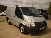 2013 FORD TRANSIT 2.2 260 Low Roof 100 BHP panel van in moondust silver with aircon rear parking camera and more  £7395.00