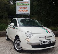 USED 2013 62 FIAT 500 1.2 LOUNGE 3dr £30 Road Tax, Air Con.