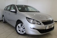 USED 2015 15 PEUGEOT 308 1.6 HDI SW ACTIVE 5DR 92 BHP SAT NAV SERVICE HISTORY + SAT NAVIGATION + PARKING SENSOR + BLUETOOTH + CRUISE CONTROL + AIR CONDITIONING + 16 INCH ALLOY WHEELS
