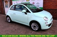 USED 2014 14 FIAT 500 1.2 LOUNGE 3d 69 BHP +15x FIAT 500's NOW IN STOCK.