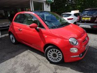 USED 2016 65 FIAT 500 1.2 LOUNGE 3d 69 BHP New Shape Model finished in Glam Coral Pink! Low Mileage, One Owner from new, Just Serviced by ourselves, MOT until February 2019, Balance of Fiat Warranty until February 2019, Great on fuel economy! Only £20 Road Tax!