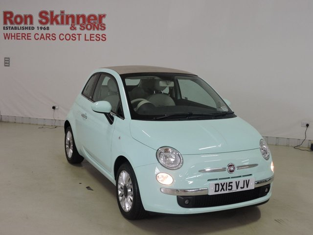 View our 2015 15 FIAT 500 1.2 C LOUNGE 3d 69 BHP