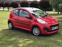 2012 PEUGEOT 107 1.0 ACTIVE 3d 68 BHP £3990.00