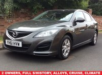 USED 2011 61 MAZDA 6 2.2 D TS 5d 163 BHP 2 OWNERS, FULL SERVICE HISTORY, 1YR MOT,  EXCELLENT CONDITION, ALLOYS, CLIMATE, CRUISE,  FOGS, RADIO CD, E/WINDOWS, R/LOCKING, FREE WARRANTY, FINANCE AVAILABLE, HPI CLEAR, PART EXCHANGE WELCOME,