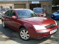 2001 FORD MONDEO 2.0 LX 16V 5d 145 BHP £795.00