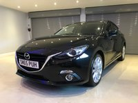 USED 2015 65 MAZDA 3 2.2 D SPORT NAV 5d 148 BHP SAT NAV + BOSE SOUND SYSTEM + KEYLESS ENTRY + HEAD UP DISPLAY