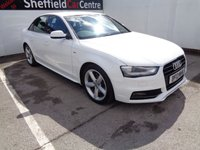 USED 2013 13 AUDI A4 2.0 TDI S LINE 4d 174 BHP BLUETOOTH  CRUISE CONTROL CLIMATE CONTROL HALF LEATHER  REAR PARKING SENSORS   SERVICE HISTORY