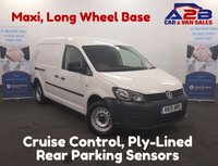 2015 VOLKSWAGEN CADDY MAXI 1.6 C20 TDI STARTLINE BLUEMOTION TECHNOLOGY 101 BHP Long Wheel Base, Cruise Control, Rear Parking Sensors, 4.9% Flat Rate Available £6980.00