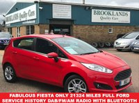 2016 FORD FIESTA 1.2 ZETEC 5 Door Race Red with Anthracite Cloth 81 BHP £8495.00