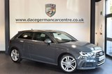 USED 2016 66 AUDI A3 2.0 TDI S LINE 3DR 148 BHP with manufactures warranty + HALF BLACK LEATHER INTERIOR + FULL SERVICE HISTORY + SATELLITE NAVIGATION + CRUISE CONTROL + BLUETOOTH + SPORT SEATS + DAB RADIO + PARKING SENSORS + 17 INCH ALLOY WHEELS +