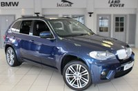 USED 2013 13 BMW X5 3.0 XDRIVE40D M SPORT 5d AUTO 302 BHP FULL BLACK EXCLUSIVE LEATHER SEATS + FULL BMW SERVICE HISTORY + PRO SATELLITE NAVIGATION + SURROUND VIEW CAMERA + XENON HEADLIGHTS + HEATED FRONT SEATS + 19 INCH ALLOYS + DAB RADIO + BLUETOOTH