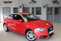 USED 2013 62 AUDI A1 1.6 TDI S LINE 3d 105 BHP HALF LEATHER SPORT SEATS + AUDI SERVICE HISTORY + FREE ROAD TAX + 17 INCH ALLOYS + BLUETOOTH + LOW RUNNING COSTS + HIGH MPG