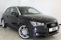 USED 2011 61 AUDI A1 1.6 TDI S LINE 3DR 103 BHP FULL SERVICE HISTORY + HALF LEATHER SEATS + BLUETOOTH + CRUISE CONTROL + MULTI FUNCTION WHEEL + AIR CONDITIONING + RADIO/CD + 18 INCH ALLOY WHEELS