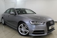 USED 2016 16 AUDI A6 2.0 TDI ULTRA S LINE 4DR 188 BHP HEATED LEATHER SEATS + SAT NAVIGATION + PARKING SENSOR + BLUETOOTH + CRUISE CONTROL + MULTI FUNCTION WHEEL + CLIMATE CONTROL + 18 INCH ALLOY WHEELS