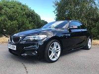 USED 2015 15 BMW 2 SERIES 2.0 218D M SPORT 2d 141 BHP M SPORT FULL LEATHER FSH
