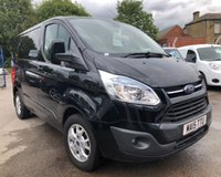 USED 2015 15 FORD TRANSIT CUSTOM 2.2 270 LIMITED LR P/V 1d 124 BHP Finished in Midnight Black