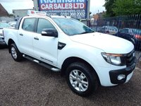 USED 2013 13 FORD RANGER 3.2 WILDTRAK 4X4 DCB TDCI 1d AUTO 197 BHP LEATHER, AIR CON, SAT NAV, F.S.H, LOAD COVER