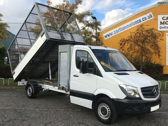 2014 MERCEDES-BENZ SPRINTER 313 Cdi 130 Tipper Caged Refuge Alloy Body Pod Tool Box	light use history printout Free Uk Delivery £12950.00