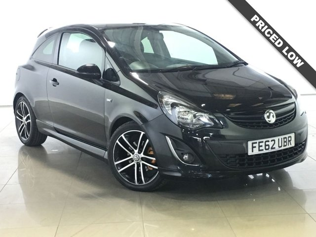 View our 2012 62 VAUXHALL CORSA 1.4 BLACK EDITION 3d 118 BHP