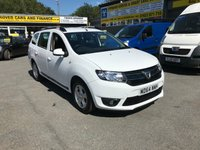 2015 DACIA LOGAN MCV 1.5 LAUREATE DCI 5d 90 BHP ESTATE IN WHITE WITH ONLY 53000 MILES. £5999.00