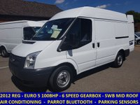 2012 FORD TRANSIT 100 280 SWB MEDIUM ROOF WITH AIR-CON FROM VIRGIN MEDIA £6995.00