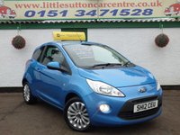 USED 2012 12 FORD KA 1.2 ZETEC 3d 69 BHP FULL HISTORY, ONE OWNER, 39,000 MILED