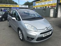 2012 CITROEN C4 GRAND PICASSO 1.6 PLATINUM EGS E-HDI 5d AUTO 110 BHP IN METALLIC SILVER WITH ONLY 69000 MILES £6499.00