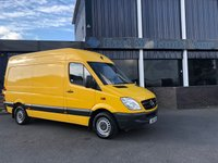 USED 2013 13 MERCEDES-BENZ SPRINTER 313 CDI MWB Hi Roof 2.1 130 BHP 2013 (13) Plate Yellow