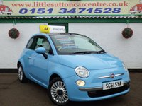 USED 2011 61 FIAT 500 1.2 LOUNGE 3d 69 BHP FULL HISTORY, 2 OWNERS, IDEAL FIRST CAR
