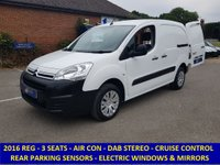 2016 CITROEN BERLINGO 3 SEAT 850 ENTERPRISE WITH DAB STEREO & CRUISE CONTROL £6295.00