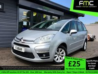USED 2011 11 CITROEN C4 GRAND PICASSO 1.6 VTR PLUS HDI EGS 5d AUTO 110 BHP Full Service History - 7 Seater