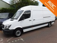 USED 2014 64 MERCEDES-BENZ SPRINTER 2.1 313 CDI LWB 1d 129 BHP A REAL EXAMPLE OF A STUNNING AND VERY WELL LOOKED AFTER  VAN BEEN OWNED BY A COMPANY AND HAS NO EXPENSE SPARED IN SERVICING THIS VAN IT HAS FULLY SERVICE HISTORY, ELEC WINDOWS, REMOTE CENTRAL LOCKING, CRUSE CONTROL, BULKHEAD, PLY LINED