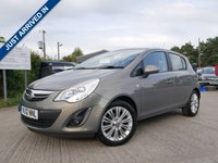 USED 2012 12 VAUXHALL CORSA 1.4 SE 5d 98 BHP AIR CONDITIONING+12 MONTHS MOT, REMOTE CENTRAL LOCKING, 2 KEYS