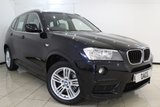 USED 2012 60 BMW X3 2.0 XDRIVE20D M SPORT 5DR AUTOMATIC 181 BHP HEATED LEATHER SEATS + SAT NAVIGATION PROFESSIONAL + PARKING SENSOR + BLUETOOTH + CRUISE CONTROL + MULTI FUNCTION WHEEL + CLIMATE CONTROL + 18 INCH ALLOY WHEELS