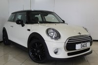 USED 2014 14 MINI HATCH COOPER 1.5 COOPER CHILI PACK 3DR 134 BHP SERVICE HISTORY + HALF LEATHER SEATS + BLUETOOTH + CRUISE CONTROL + MULTI FUNCTION WHEEL + AIR CONDITIONING + ELECTRIC WINDOWS + DAB RADIO + 16 INCH ALLOY WHEELS