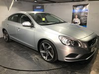 USED 2012 12 VOLVO S60 2.0 D3 R-DESIGN 4d AUTO 161 BHP Bluetooth  :  DAB Radio : R-Design steering wheel    :    R-Design T-Tec / Cloth upholstery    :    Heated front seats  : Rear parking sensors   :   Fully stamped service history