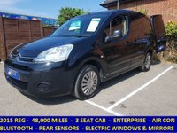 2015 CITROEN BERLINGO 3 SEAT ENTERPRISE WITH AIR CON & BLUETOOTH £5995.00