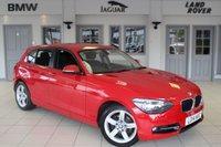 USED 2014 14 BMW 1 SERIES 2.0 120D SPORT 5d 181 BHP FULL BMW SERVICE HISTORY + £30 ROAD TAX + SATELLITE NAVIGATION + BLUETOOTH + DAB RADIO + 17 INCH ALLOYS + RAIN SENSORS