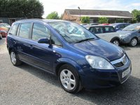 USED 2008 08 VAUXHALL ZAFIRA 1.9 EXCLUSIV CDTI 5d AUTOMATIC DIESEL AUTOMATIC 7 SEATER FULL SERVICE HISTORY
