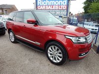 USED 2014 14 LAND ROVER RANGE ROVER 4.4 SDV8 VOGUE 5d AUTO 339 BHP BIEGE LEATHER, F.L.R.S.H, HEATED SEATS, BLUETOOTH, SAT NAV, PANORAMIC SUNROOF