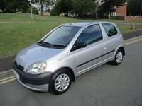 USED 2001 51 TOYOTA YARIS 1.0 GS VVT-I 3d 64 BHP LONG MOT TEST - GOOD CONDITION