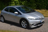 "USED 2007 57 HONDA CIVIC 1.8 I-VTEC TYPE-S 3d 139 BHP 3 FORMER FSH 9 STAMPS IN SERVICE BOOK 17"" ALLOYS AC RADIO/CD"