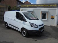 2015 FORD TRANSIT CUSTOM SHORT WHEEL BASE LOW ROOF 125.bhp  290 MODEL .CARRY BETTER WEIGHT  EX LEASE £9950.00