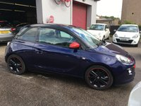 USED 2013 63 VAUXHALL ADAM 1.4 JAM S/S 3d 85 BHP HALF LEATHER, CLIMATE CONTROL, TOUCHSCREEN RADIO,